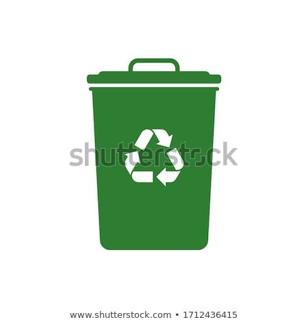 Сток-фото: Recycle · синий · вектора · икона · дизайна