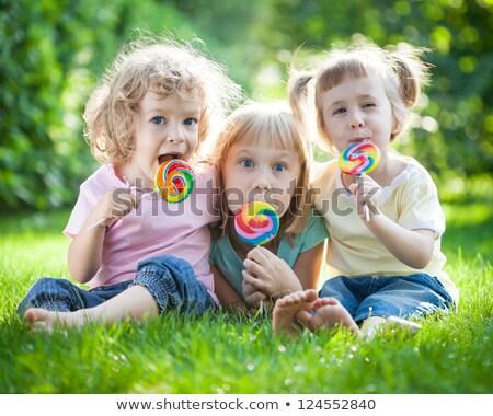 dzieci · jedzenie · candy · kolorowy · światła · jeść - zdjęcia stock © paha_l