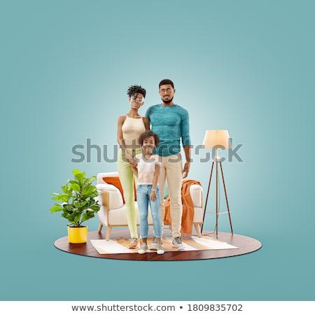 Stockfoto: Geven · familie · man · gelukkig · paar · tijd