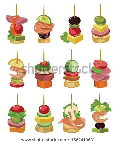 Brood buffet voedsel mand lunch maaltijd Stockfoto © mikdam