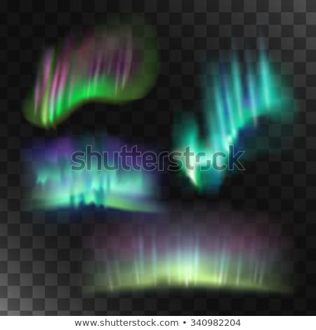 Northern or polar lights, copy-space background, vector illustration stock photo © rommeo79