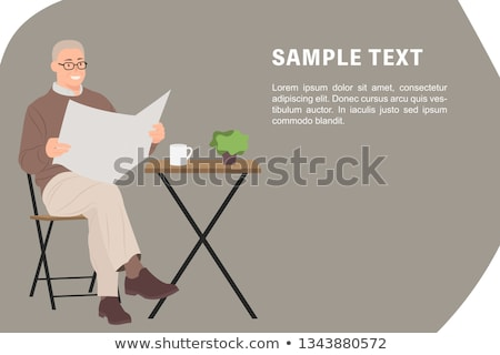 Elderly retired man relaxing in a chair Stock photo © ozgur