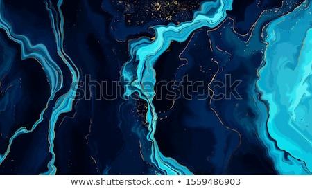 Kék márvány fehér papír Stock fotó © Alsos