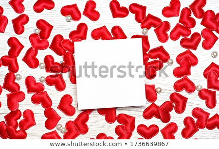 Multiple small red hearts on wooden background Stock photo © tommyandone