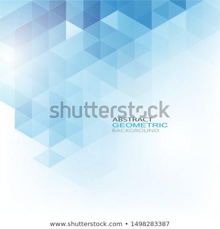 幾何学的な 六角形 要素 青 ベクトル 技術 ストックフォト © saicle