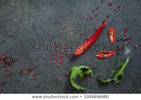 Sal pimenta pimenta textura fechar pormenor Foto stock © tony4urban