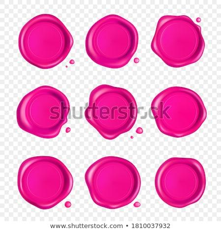 Genuíno garantido rosa selar vetor ícone Foto stock © rizwanali3d