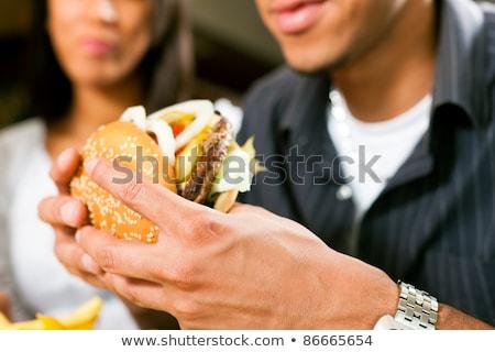 kelnerka · amerykański · diner · restauracji · znajomych - zdjęcia stock © kzenon