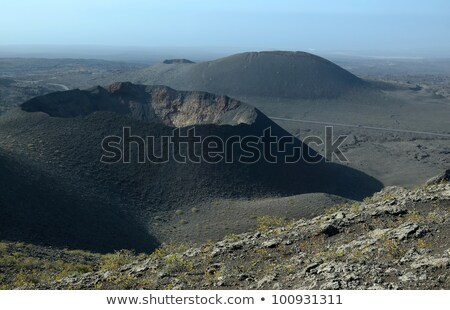 Landscape with cold lava flow  in Lanzarote Stock photo © meinzahn