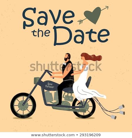 noiva · sessão · ilustração · menina · casamento · casal - foto stock © lubavnel