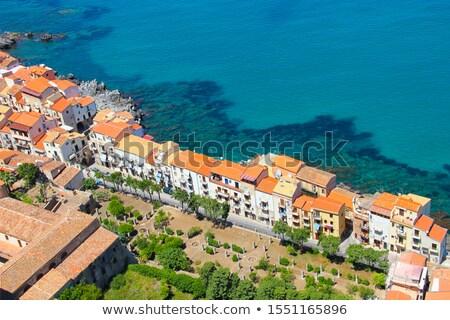 линия · пляж · район · Кипр - Сток-фото © steffus