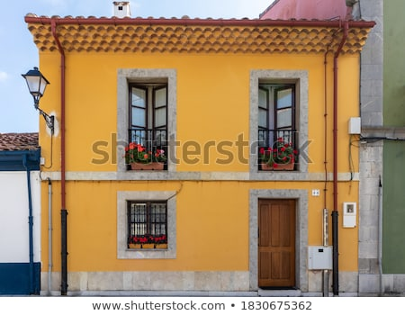 typical spanish residential houses stock photo © amok