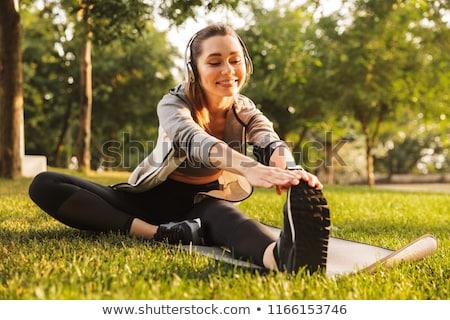 ногу · фитнес · студию - Сток-фото © svetography