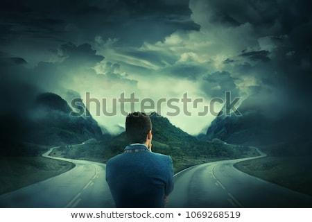 verkeerd · beslissing · teken · richting · veld - stockfoto © rastudio