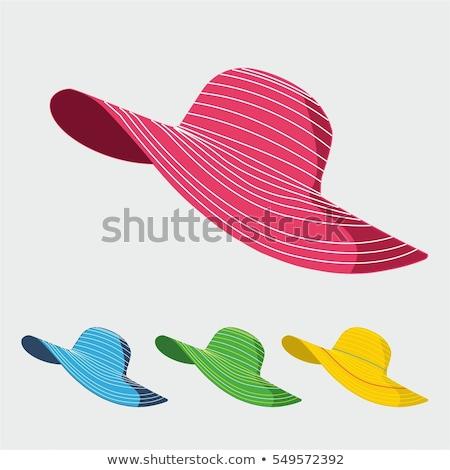 Elegante mujer sombrero moda resumen belleza Foto stock © shawlinmohd