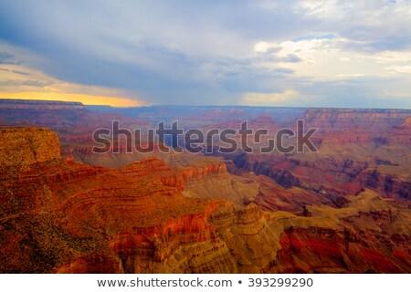 Famoso Grand Canyon pesado tormenta puesta de sol hdr Foto stock © CaptureLight
