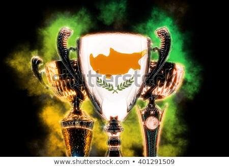 Trófea csésze mintázott zászló Ciprus digitális illusztráció Stock fotó © Kirill_M