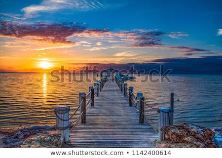 Naplemente kulcs nyugat látványos égbolt természet Stock fotó © meinzahn