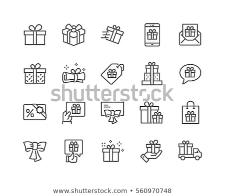 Gift box icon set Stock photo © ayaxmr