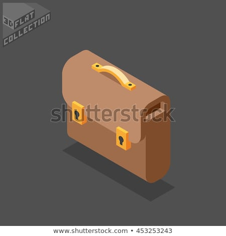 場合 ポートフォリオ アイソメトリック デザイン スーツケース 袋 ストックフォト © robuart
