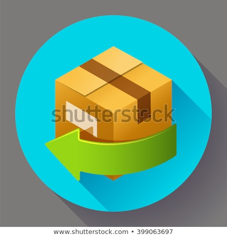 delivery and free return of gifts or parcels shipping icon for internet store stock photo © marysan