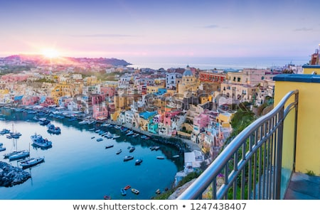 marina corricella on procida island stock photo © benkrut