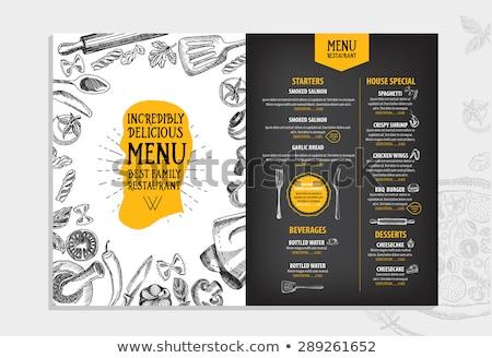 restauration · rapide · produits · vecteur · design · restaurant - photo stock © blotty