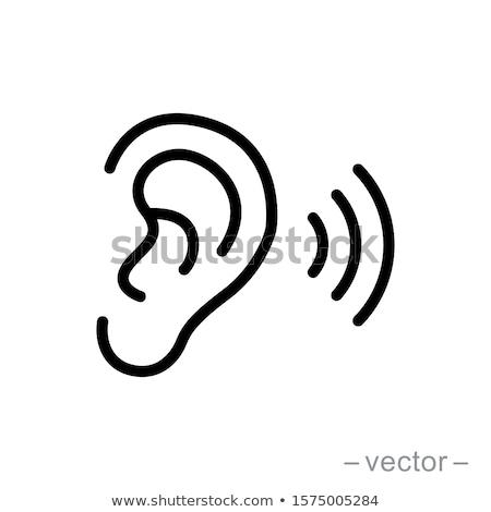 Sense of hearing icons Stock photo © bluering