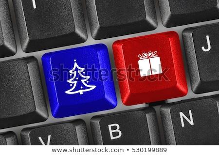 2017 icon on keyboard 2 stock photo © oakozhan