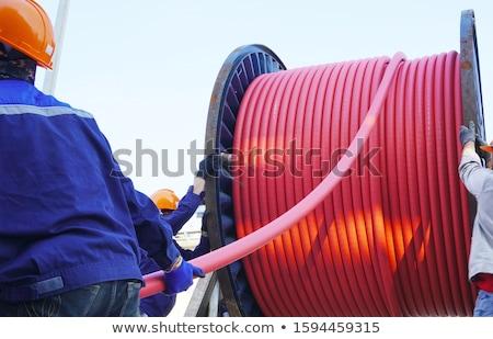 fort · électriques · connexion · haute · tension · susciter · deux - photo stock © vtorous