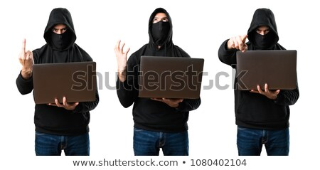 Mad hacker Stock photo © ajfilgud