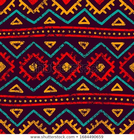 narancs · őslakos · amerikai · kisebbségi · minta · vektor - stock fotó © vector1st