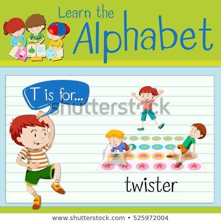 Flashcard letter T is for twister Stock photo © bluering