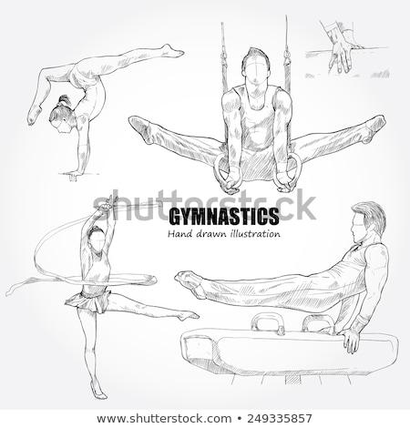 鉛筆 体操選手 実例 ペン 芸術 ダンス ストックフォト © bluering