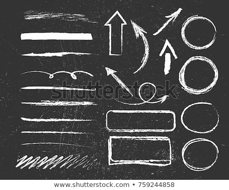 Textura prancheta giz verde conselho desenho Foto stock © kup1984