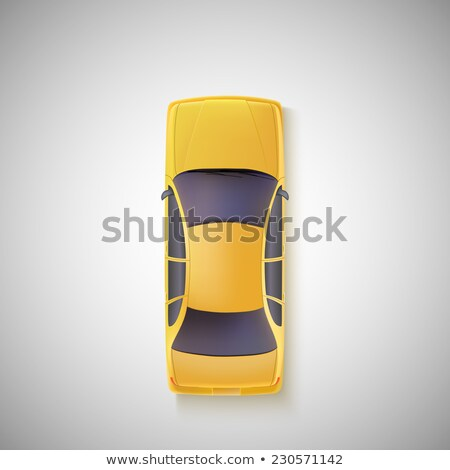 A topview of a yellow taxi cab Stock photo © bluering