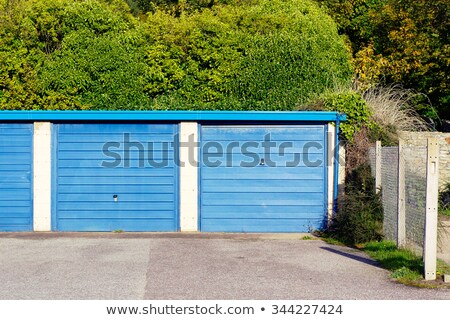 A concrete house with an attached garage Stock photo © bluering