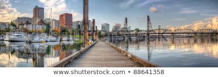 Сток-фото: Portland Oregon Downtown Waterfront Park Panorama