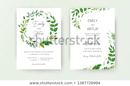 Leafy border design Stock photo © bluering
