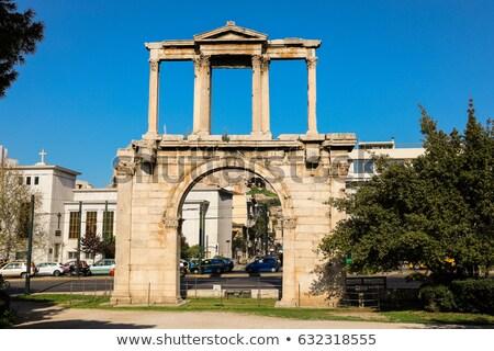 Athene oude steen stad Griekenland Stockfoto © russwitherington