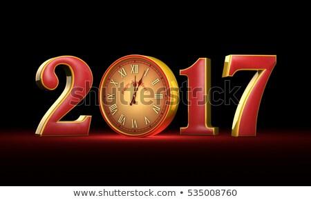 új év karácsony piros arany éjfél mesés Stock fotó © grechka333