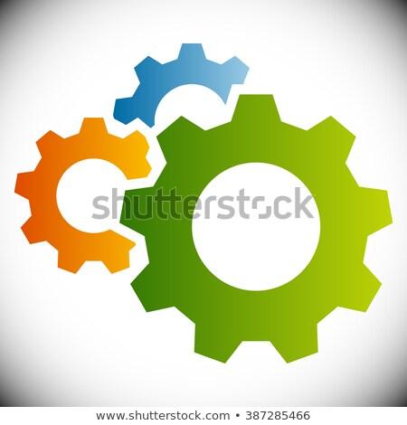 Roda dentada rodas manutenção palavra 3D Foto stock © andreasberheide