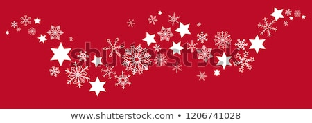 red background with snowflakes eps 10 stock photo © beholdereye