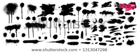 Graffiti gotita blanco negro fondo signo caída Foto stock © Melvin07