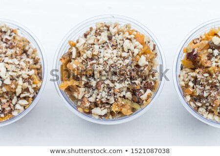 Pudim frutas comida café da manhã estilo de vida grão Foto stock © M-studio