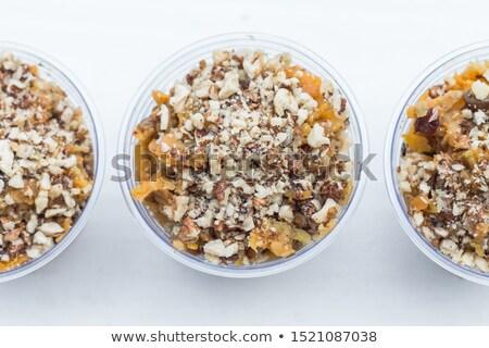 пудинг плодов продовольствие завтрак жизни зерна Сток-фото © M-studio