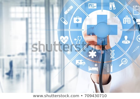 health care concept symbols conncected stock photo © tefi