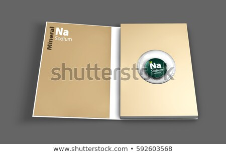 Mockup book of Sodium mineral. Illustration Stock photo © tussik
