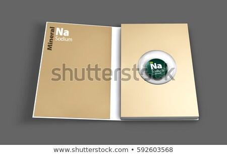 symbool · chemische · element · natrium · hand · technologie - stockfoto © tussik