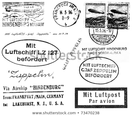 Zeppelin Related Postmarks Stock photo © 3mc